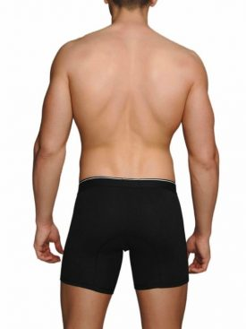 MACHO - MC087 BOXER LARGO NEGRO TALLA S