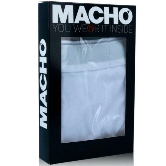MACHO UNDERWEAR MACHO - MC087 BOXER LARGO BLANCO TALLA S