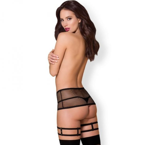 OBSESSIVE 858-GAR-1 GARTER BELT AND THONG S/M