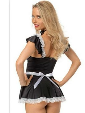 QUEEN LINGERIE NAUGHTY MAID COSTUME M