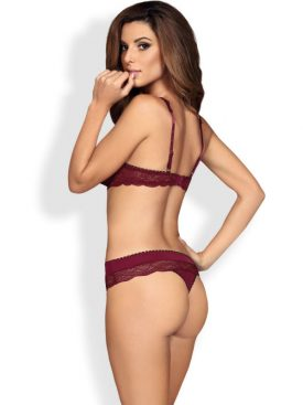 OBSESSIVE - MIAMOR TWO PIECES SET RUBY S/M