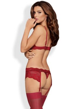 OBSESSIVE - 810-SEG-3 THREE PIECES SET RUBY S/M