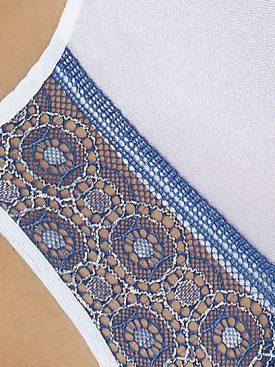 PASSION ELENI BODY WHITE & BLUE XXL/XXXL