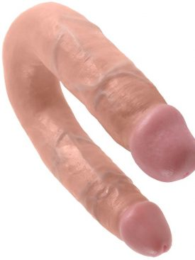 KING COCK U-SHAPED MEDIUM DOUBLE TROUBLE FLESH
