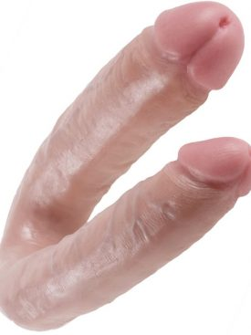KING COCK U-SHAPED LARGE DOUBLE TROUBLE FLESH