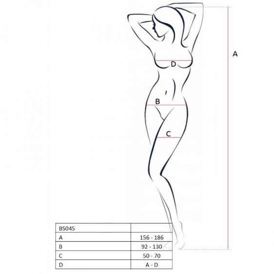 PASSION WOMAN BS045 BODYSTOCKING NEGRO TALLA UNICA