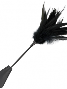 DARKNESS FEATHER CROP. BLACK