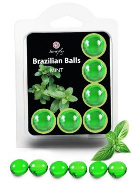SECRETPLAY SET 6 BRAZILIANS BALLS MENTA