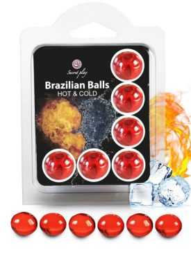 SECRETPLAY SET 6 BRAZILIAN BALLS EFECTO FRIO Y CALOR