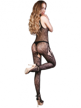 LE FRIVOLE - 04524 BLACK BODYSTOCKING S/L