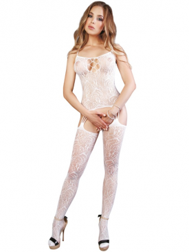 LE FRIVOLE - 04529 BODYSTOCKING BLANCO S/L