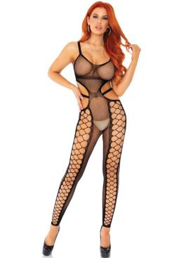 LEG AVENUE NET FOOTLESS BODYSTOCKING TALLA UNICA