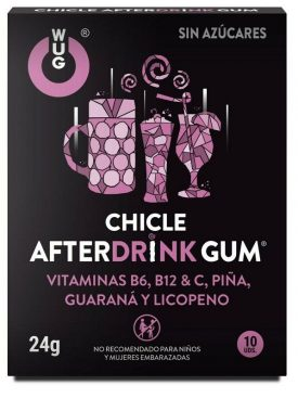 WUG GUM CHICLE AFTER DRINK 10 UDS