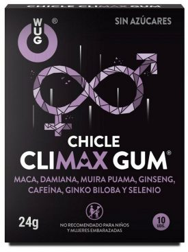 WUG GUM CHICLE CLIMAX 10 UDS