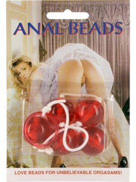 SEVENCREATIONS CLEAR ANAL BEADS LARGE