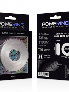 POWERING SUPER FLEXIBLE RESISTANT RING  5CM PR03 CLEAR