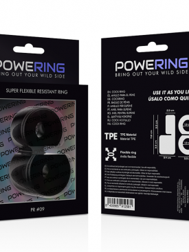 POWERING SUPER FLEXIBLE RESISTANT RING DOUBLE  PR12 BLACK