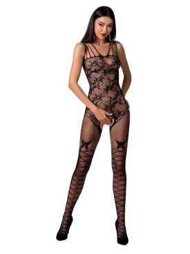 PASSION WOMAN BS076 BODYSTOCKING - BLACK ONE SIZE