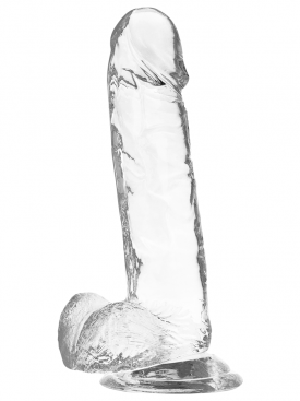 XRAY CLEAR COCK WITH BALLS  20CM X 4.5CM