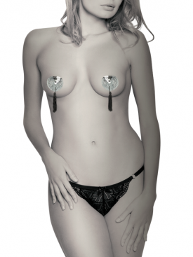 COQUETTE CHIC DESIRE   NIPPLE COVERS SILVER