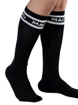 MACHO MALE LONG SOCKS ONE SIZE - BLACK