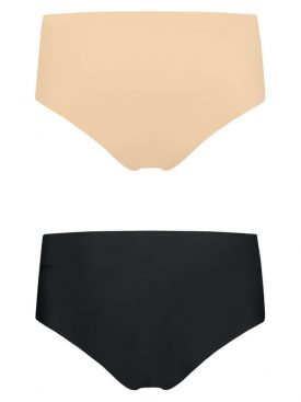 BYE BRA INVISIBLE HIGH BRIEF 2 PACK XS